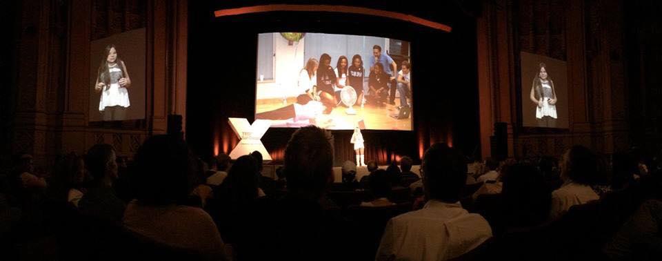 Gabi's TED talk - whole stage