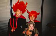 With my brothers in halloween