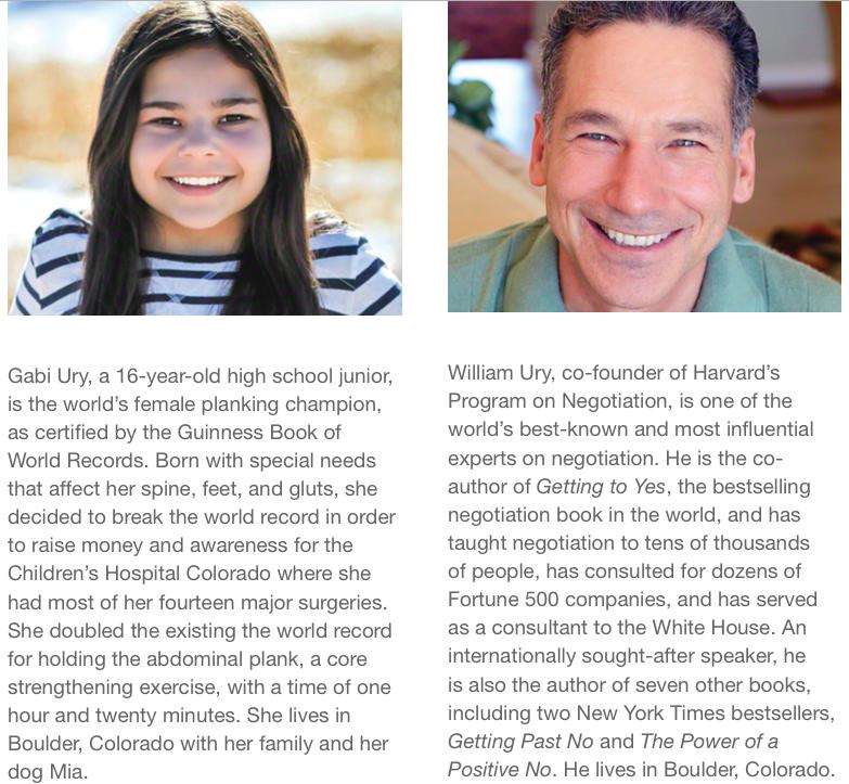 Gabi's and William's descriptions on the TEDx Program