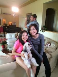 CCTV reporter Shen Chen with Gabi